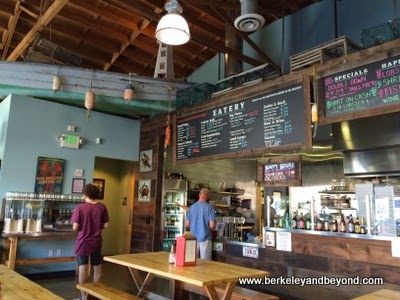interior of New England Lobster Market & Eatery in Burlingame, California