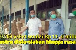 Sembako 60.769 Paket Disia-siakan