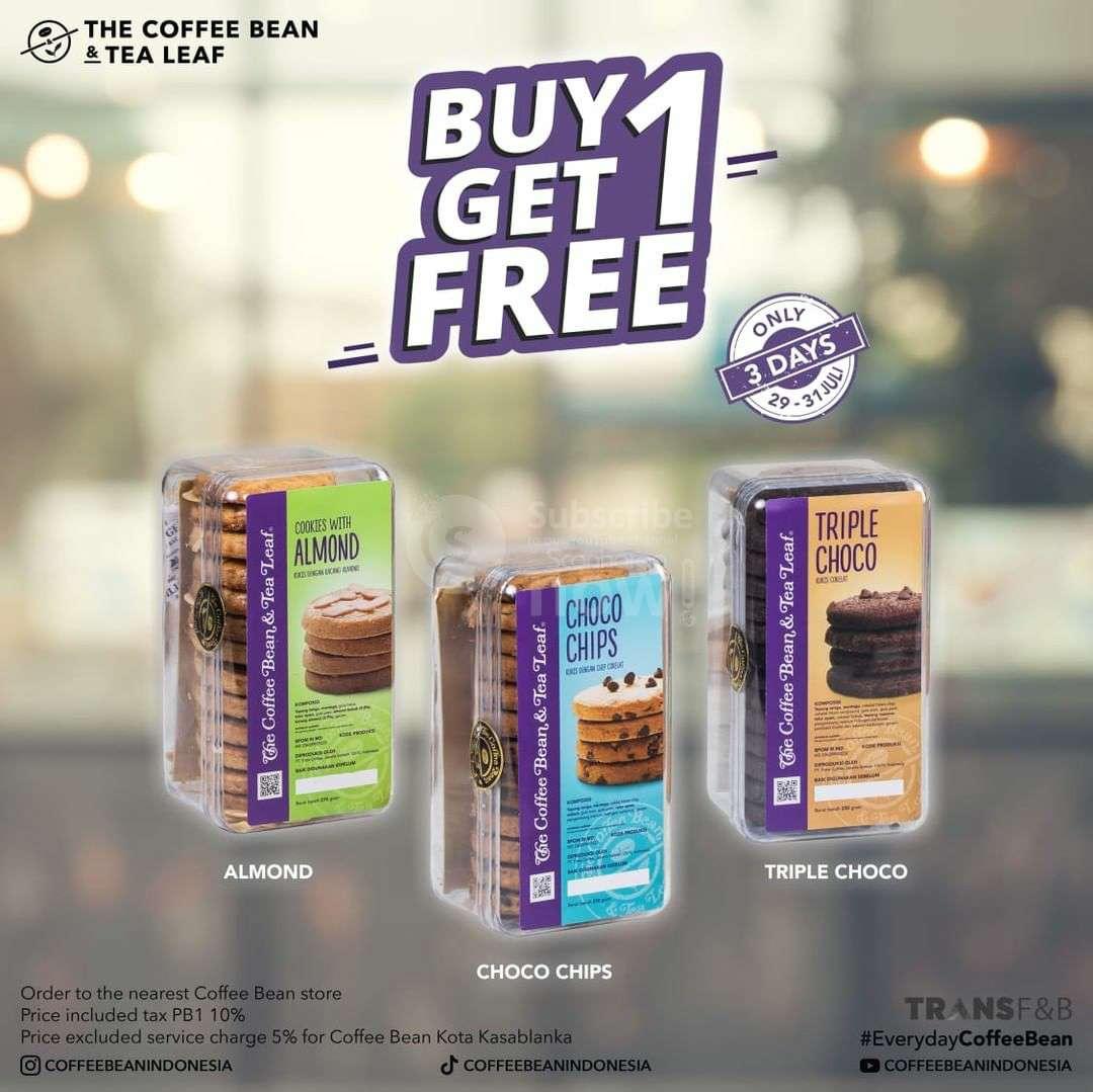 COFFEE BEAN Promo BELI 1 GRATIS 1 Aneka Cookies