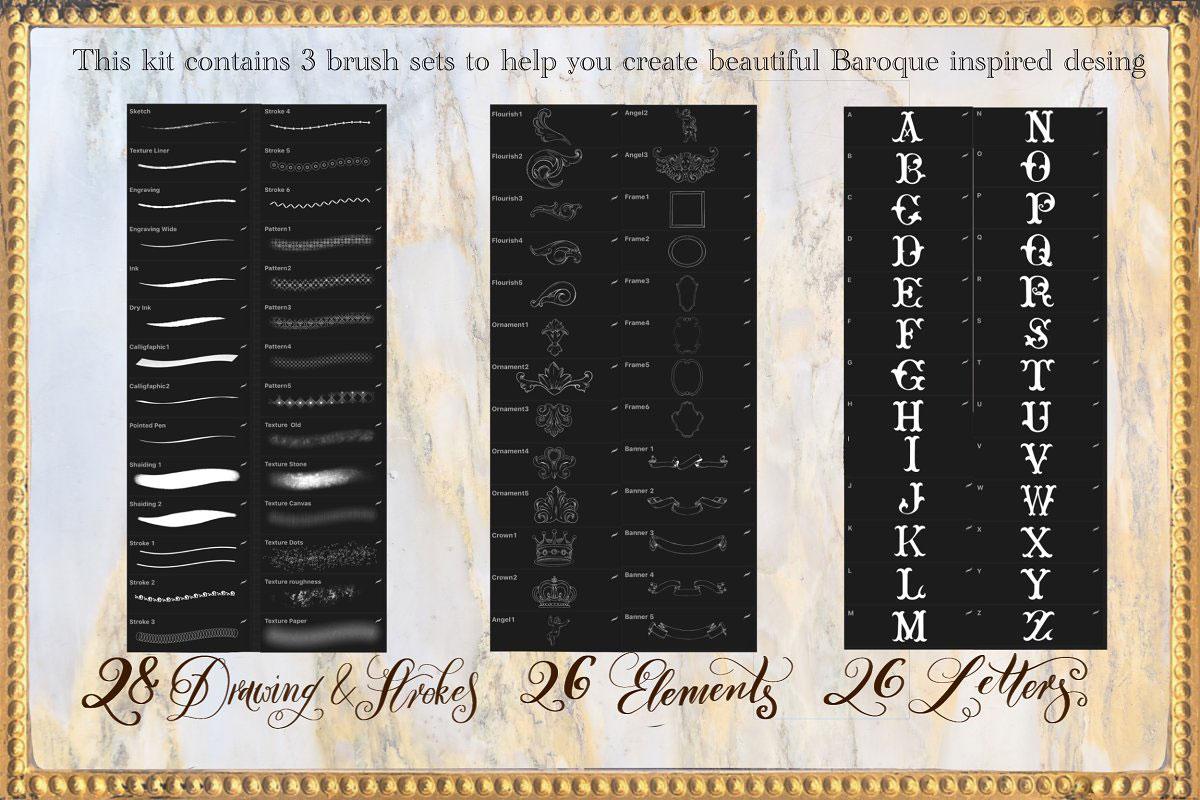 Baroque Lettering Creator Kit 4185029k