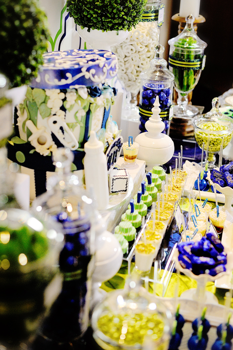 Rustic Contemporary Navy And Lime Baby Shower