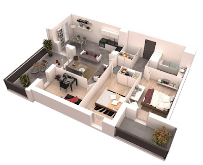 Denah rumah minimalis modern terbaru