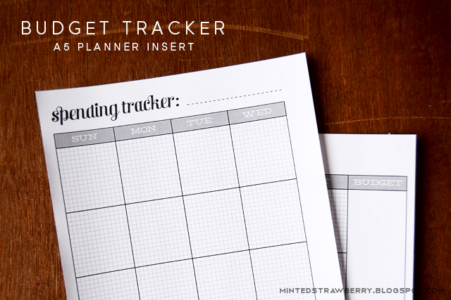 FREE PRINTABLE Budget Tracker for A5 Planners - Minted Strawberry