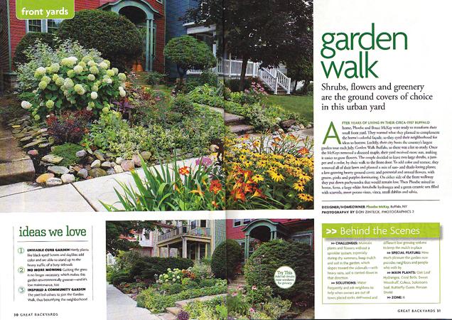 Four Garden Walk Buffalo gardens in national gardening ...