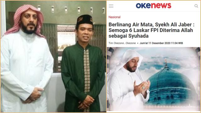 UAS Kenang Curhat Syekh Ali Jaber, Ada yang Komplain karena Beliau Ta'ziyah untuk 6 Syuhada