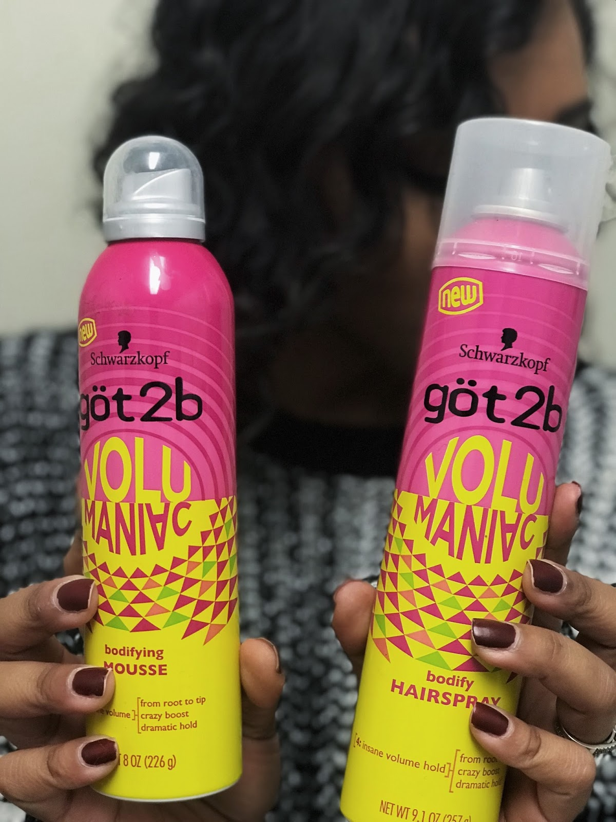 Got2b hair products, how to get curls, how to curl hair with a bob, bob haircut, schwarzkopf, hair products for volume, volumaniac, hair tutorials, how to use a curling wand