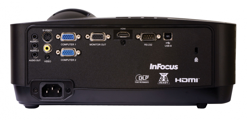 InFocus IN116x Projector Back