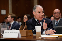 At his Senate confirmation hearing for EPA chief, Scott Pruitt argued he had pursued cases to protect Oklahoma's environment as state attorney general. (Credit: Getty Images) Click to Enlarge.