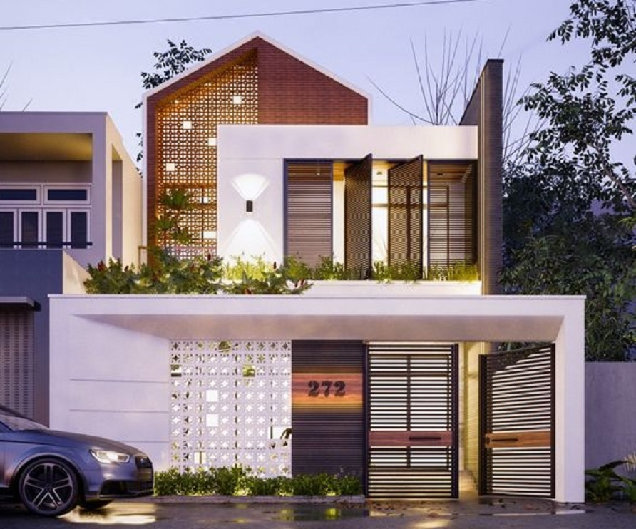 rumah minimalis 2 lantai modern murah