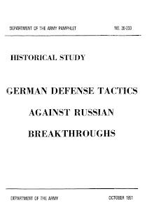 German Defence Tactics Against Russian Breakthroughs