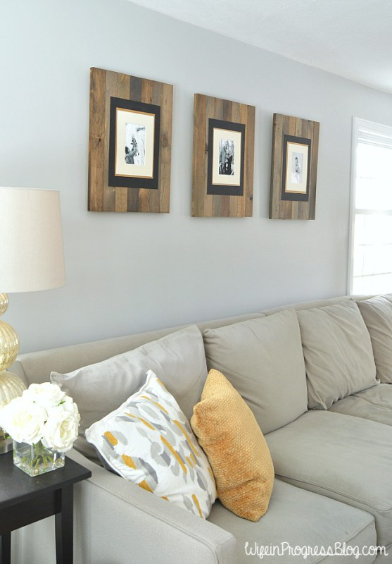 DIY wood planked frames