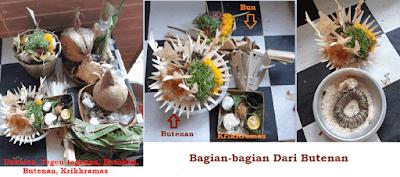 Daksina, Tegen-tegenan, Basokan, Butenan, Krikkramas