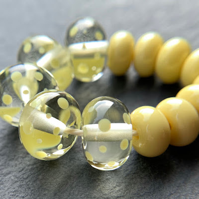 Handmade lampwork glass beads by Laura Sparling made with CiM Ra
