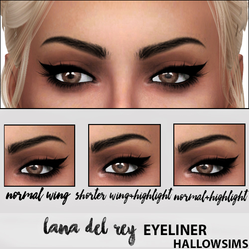 Sims 4 Cc S The Best Hallowsims Lana Del Rey Eyeliner