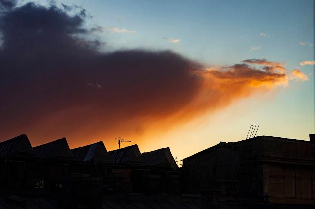 заказ Питер Санкт-Петербург вид из окна крыши вдохновение цвета вечер