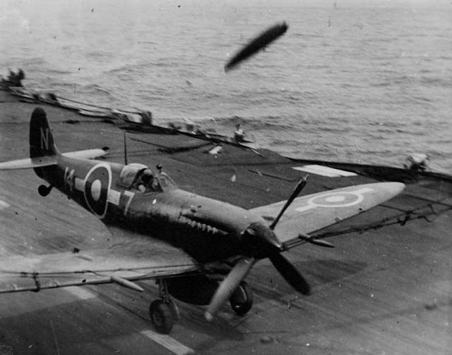 A Seafire has a rough landing worldwartwo.filminspector.com