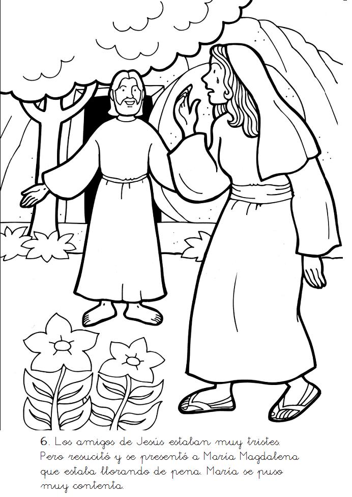 Historias Biblicas para Colorear: Muerte y Resurrección de