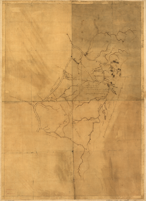 """A Map of the Land about Red Stone and Fort Pitt,"" Used by George Washington"
