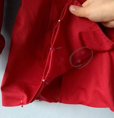 Adzik tworzy - za długi płaszcz jak skrócić instrukcje