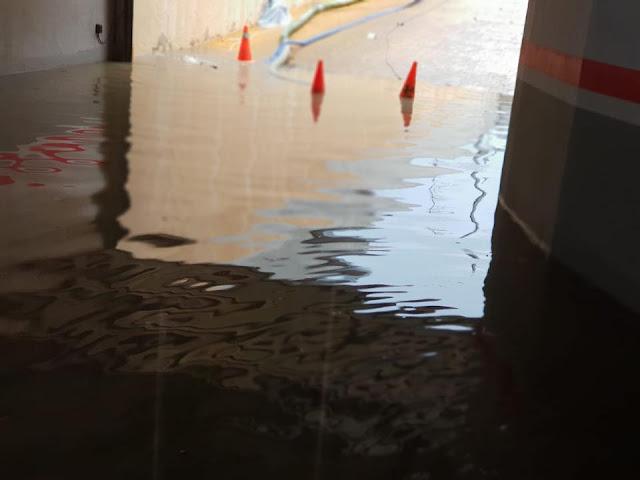 achique inundación