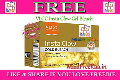 VLCC Insta Glow Gel Bleach - Free Sample