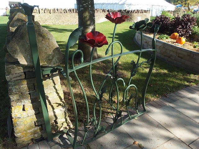 A beautiful wrought iron gate leads to one of the showground's permanent gardens