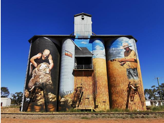 Weethalle Silo Art | Street Art by Heesco