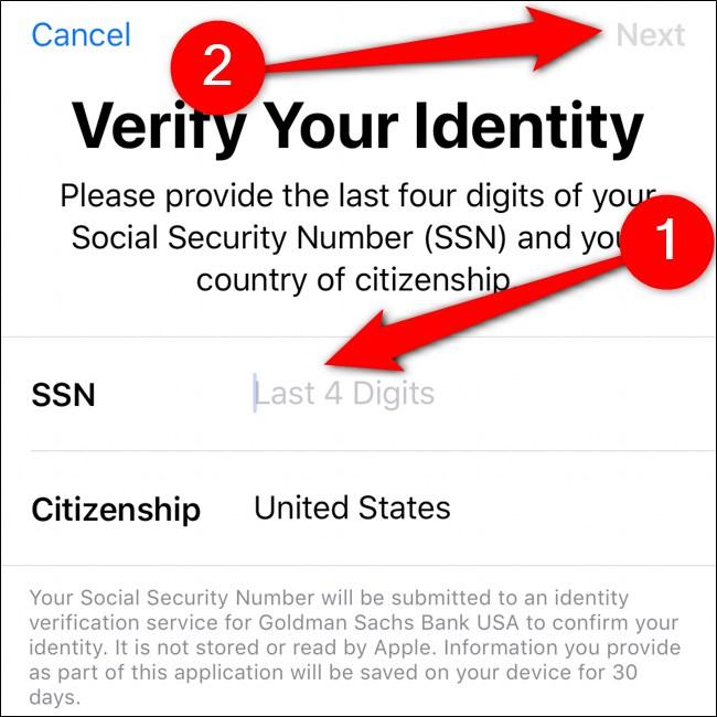 محفظة iPhone تحقق من هويتك