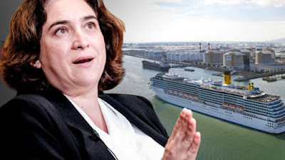 Colau, podemos, barcelona, cruceros, atraque, barcos, contaminación