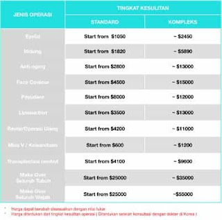 Paket Hemat Biaya Oplas di Korea Selatan
