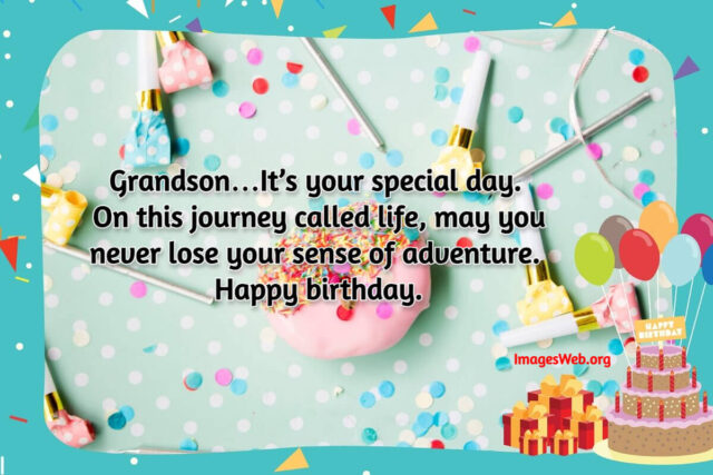 Beautiful Happy Birthday Wishes Card for Grandson