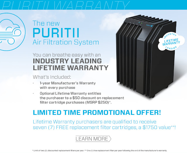 Puritii Lifetime Warranty