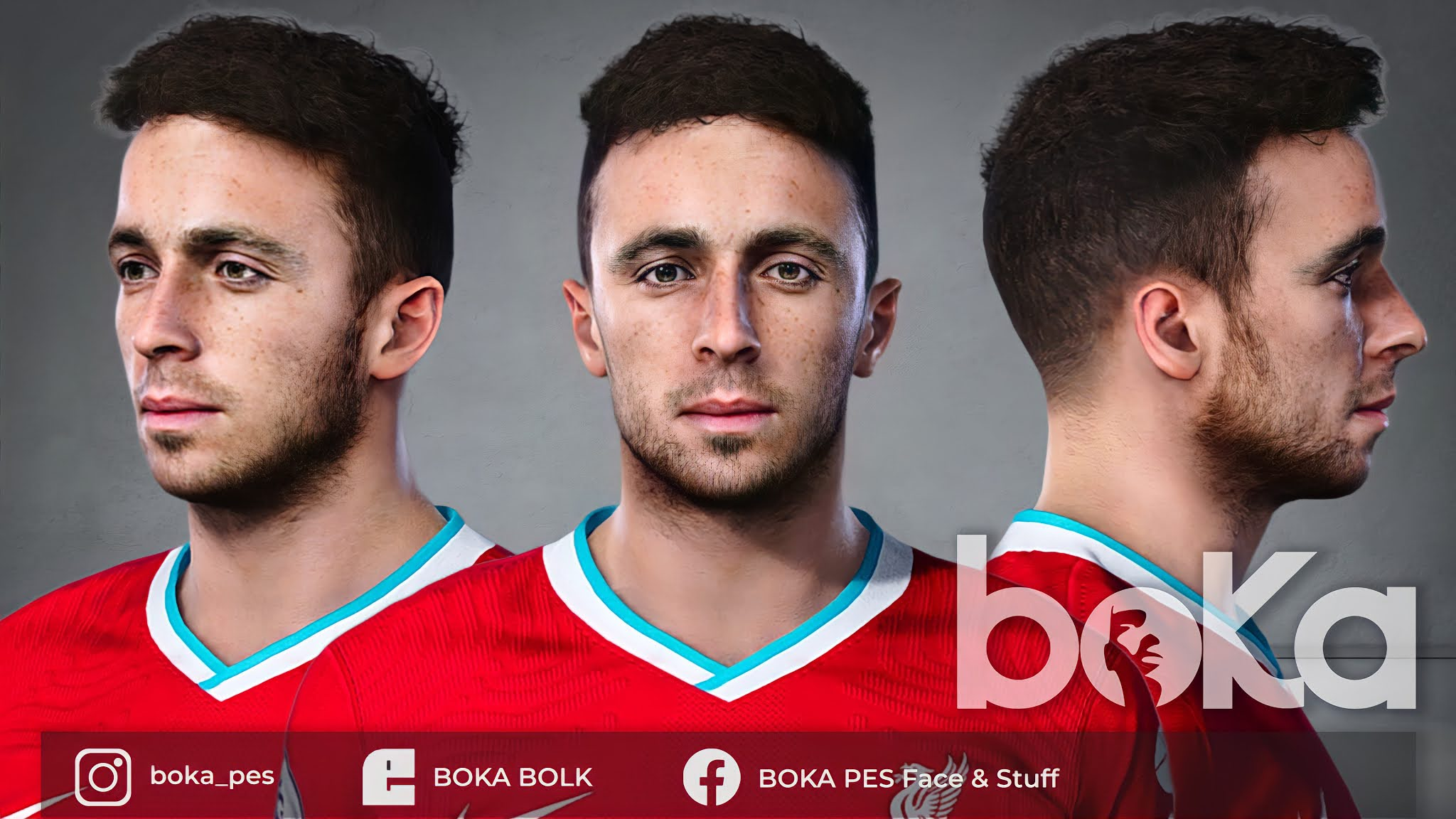 PES 2021 Diogo Jota Face by BOKA
