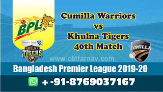 Khulna vs Cumilla BPL T20 40th match today prediction