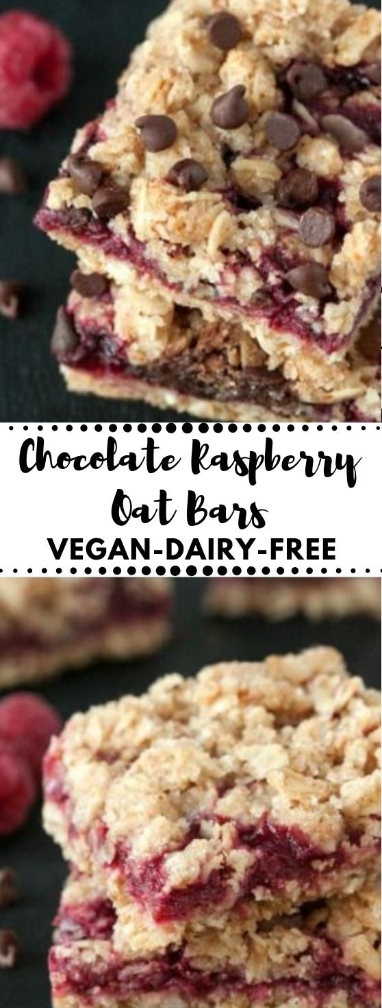 Chocolate Raspberry Oat Bars  #pumpkin #desserts #bars #pie #yummy
