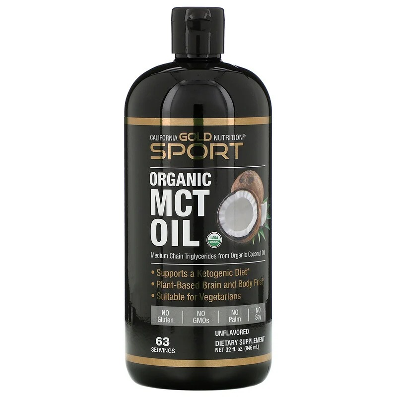 California Gold Nutrition, SPORTS. Organic MCT Oil, Unflavored, 32 fl oz (946 ml)