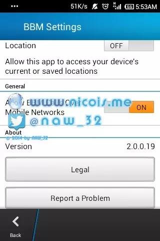free download update apk blackberry messenger (bbm V 2.0.0.19) release 10 Maret 2014