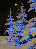 blue holiday decor