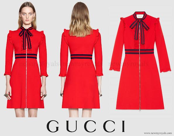 Charlotte Casiraghi wore GUCCI Viscose Jersey Dress