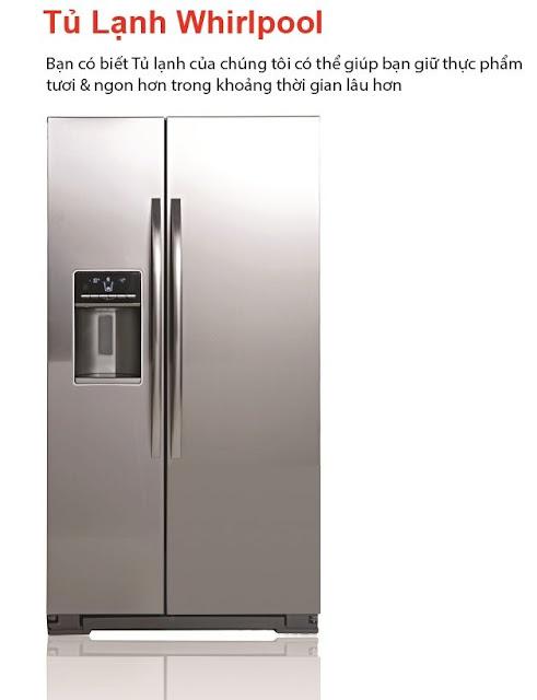 Tủ lạnh Whirlpool Faster - nhập khẩu nguyên chiếc USA