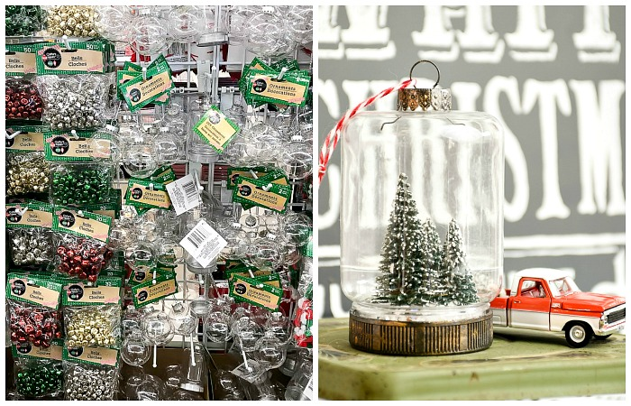 Dollar Tree mason jar bottle brush ornaments