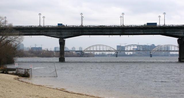 мост Патона и железнодорожный мост