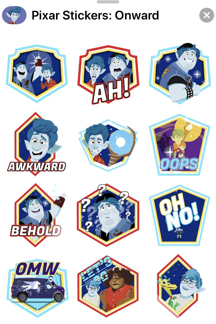 Disney·Pixar Onward Apple iOS Sticker Pack