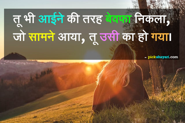 bewafa shayari photo hindi