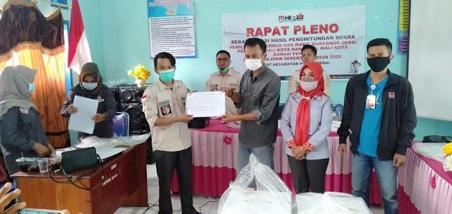 Pleno Rekapitulasi PPK 8 Kecamatan Sungai Penuh Selesai, Ahmadi-Antos Unggul Telak