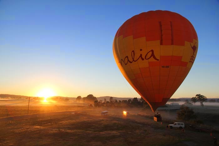Hot air ballooning over Austrailia