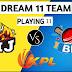 BIJ Vs BB Dream11 Team Prediction Of KPL 2018: Preview |  Final Match