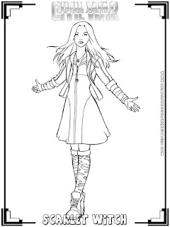 scarlet witch captain america civil war coloring pages