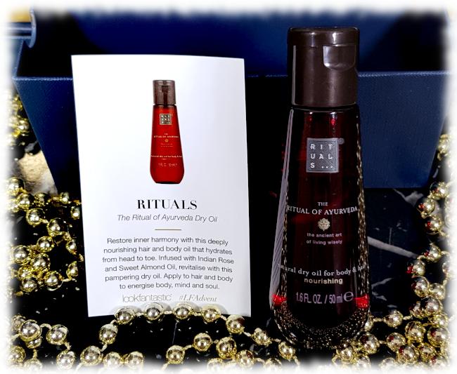 Rituals The Ritual of Ayurveda Dry Oil bottle & description card