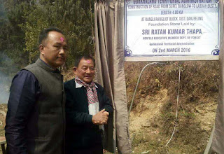 surel bunglow to labdah busty road laid foundation stone by sabhasad ratan thapa
